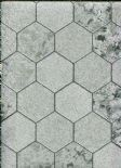 Illusions Foil Honeycomb Silver Wallpaper 294700 By Arthouse For Options
